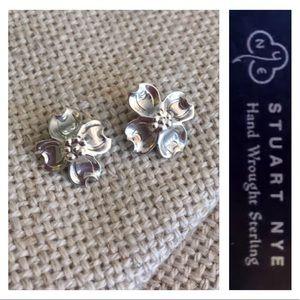 Sterling Silver Stuart NYE Petite Dogwood Earrings